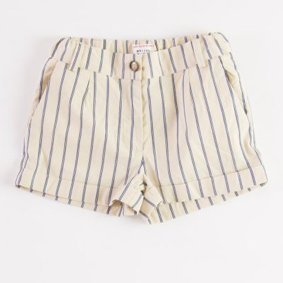 Shorts Frosty Beige/Blue Striped by Morley