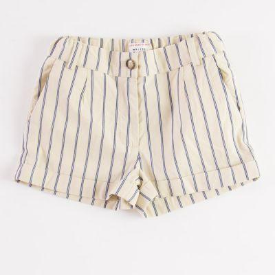 Shorts Frosty Beige/Blue Striped by Morley-4Y
