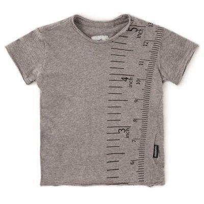 Measuring Band T-Shirt Heather Grey by nununu-2/3Y