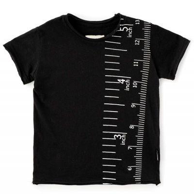 Baby Measuring Band T-Shirt Black by nununu-6M