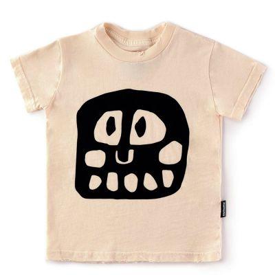 Baby Mega Rowdy Mask T-Shirt Natural by nununu