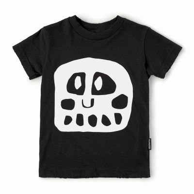 Baby Mega Rowdy Mask T-Shirt Black by nununu