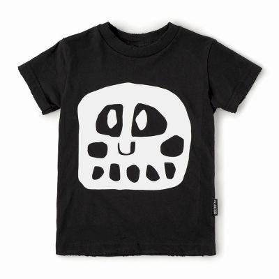 Baby Mega Rowdy Mask T-Shirt Black by nununu-6M