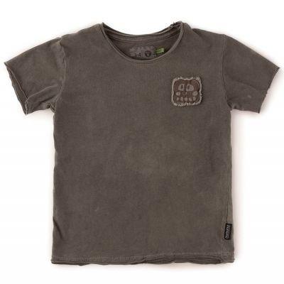 Rowdy Mask Patch T-Shirt Vintage Grey by nununu