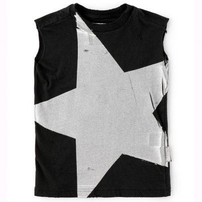 Sleeveless T-Shirt Megastar Black by nununu