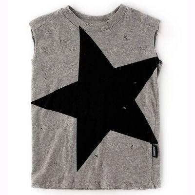 Sleeveless T-Shirt Megastar Heather Grey by nununu-2/3Y