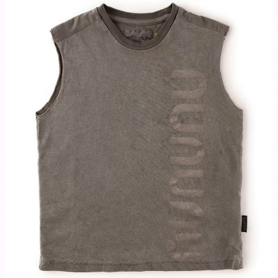 Sleeveless Shirt Vintage Grey by nununu