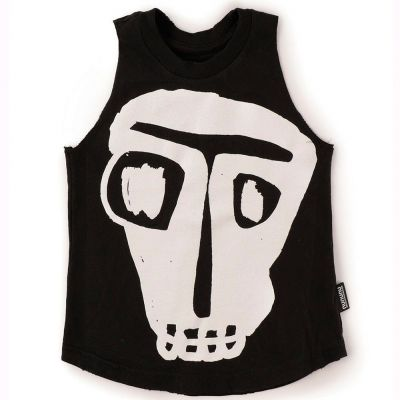 Mega Rowdy Mask Tank Top Black by nununu