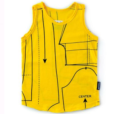 Baby Tank Top with Sewing Pattern Print Lava by nununu