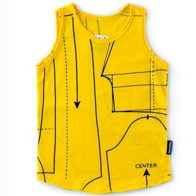 Tank Top with Sewing Pattern Print Lava by nununu-2/3Y