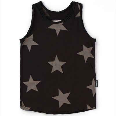 Baby Tank Top with Star Print Black by nununu