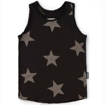 Baby Tank Top with Star Print Black by nununu-24M