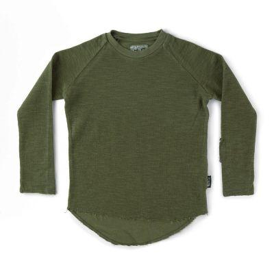 Soft Dyed Long T-Shirt Vintage Olive by nununu-2/3Y