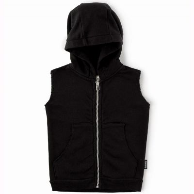 Sleeveless Hooded Vest Out of Order by nununu
