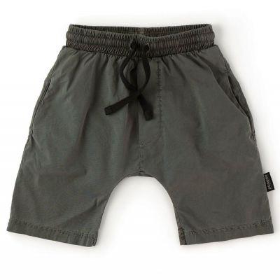 Solid Rounded Shorts Vintage Iron by nununu-2/3Y