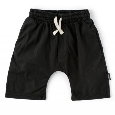 Solid Rounded Shorts Black by nununu-2/3Y