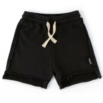 Asymmetric Length Shorts Black by nununu