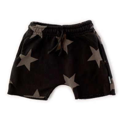 Rounded Shorts Grey Star Print by nununu
