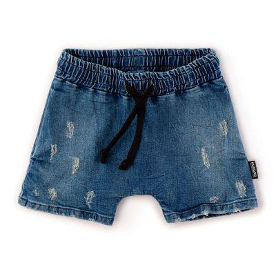 Rounded Denim Shorts by nununu
