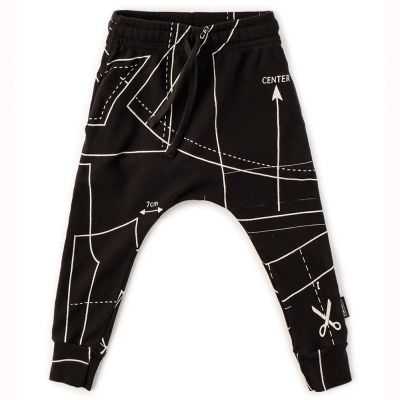 Baggy Pants with Sewing Pattern Print by nununu-2/3Y