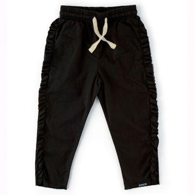 Baby Ruffled Pants Black by nununu