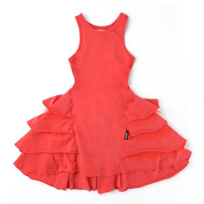 Baby Fancy Layered Dress Lava Red by nununu-24M