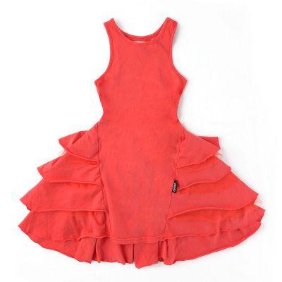 Fancy Layered Dress Lava Red by nununu-2/3Y
