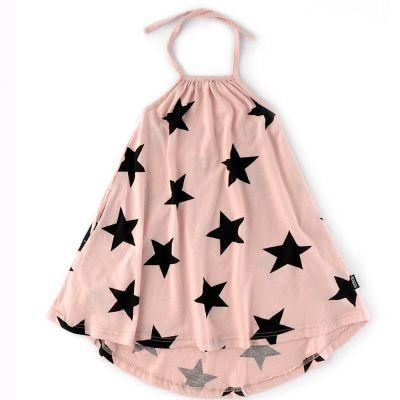 Tie Collar Dress Powder Pink by nununu-4/5Y