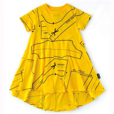 Baby 360 Sewing Pattern Dress Lava Yellow by nununu