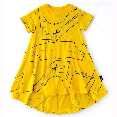 360 Sewing Pattern Dress Lava Yellow by nununu-2/3Y