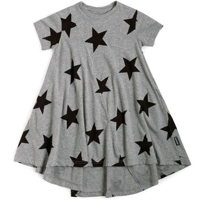 360 Star Dress Heather Grey by nununu
