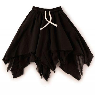 Baby Tulle Layered Skirt Black by nununu
