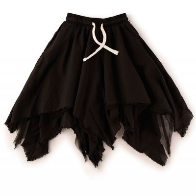 Tulle Layered Skirt Black by nununu