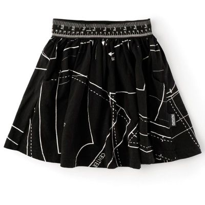 Skirt Begginner's Tailor Kit Print Black by nununu-2/3Y