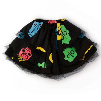 Skirt Colorful Rowdy Mask Print by nununu-2/3Y