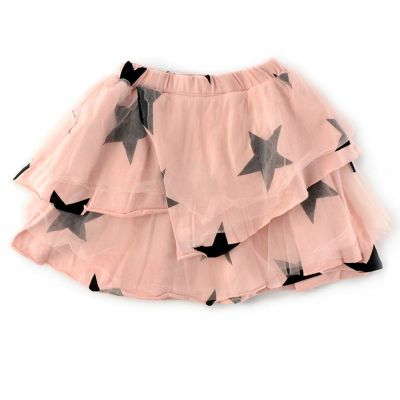 Layered Tulle Skirt Powder Pink by nununu