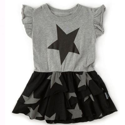 Layered Star Onsie Dress by nununu