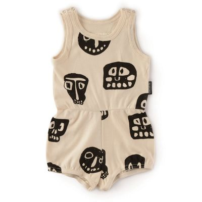 Baby Rowdy Masks Tank Overall by nununu-6M