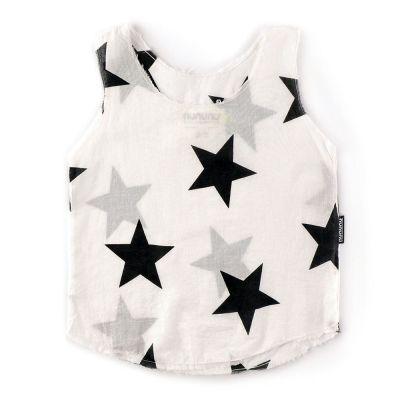 Star Voile Tank Top White by nununu-2/3Y