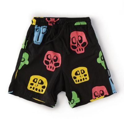 Voile Shorts with Rowdy Masks Print by nununu
