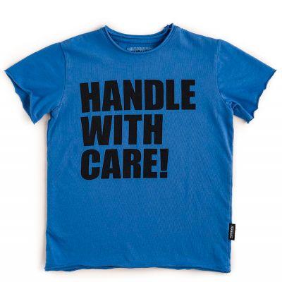 T-Shirt Handle with Care! Blue by nununu