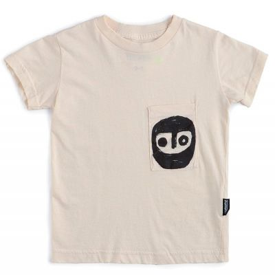 T-Shirt Pocket Warrior Natural by nununu-4Y