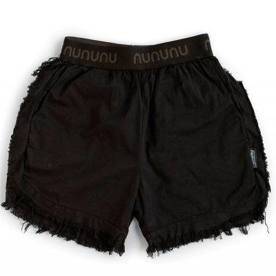 Airy Ruffled Shorts Black by nununu