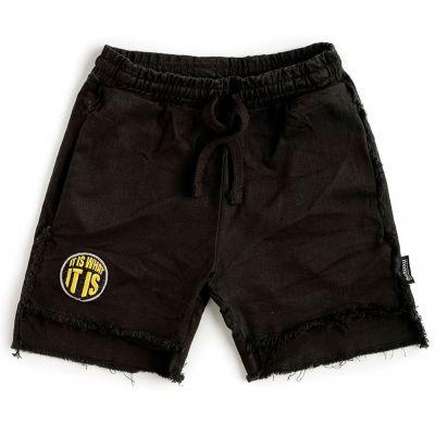 Unbalanced Shorts Black by nununu