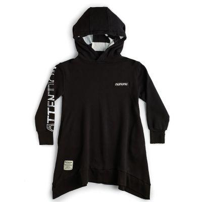 Attention Hooded Dress Black by nununu