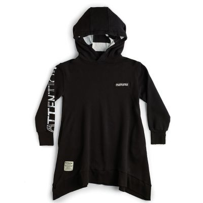 Attention Hooded Dress Black by nununu-4/5Y