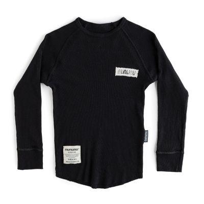 Cozy Solid T-Shirt Black by nununu