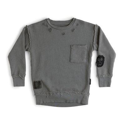 Growth Sweatshirt Dyed Grey by nununu-3/4Y
