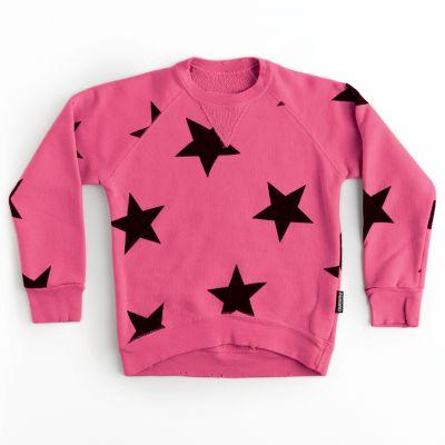 Star Sweatshirt Hot Pink by nununu