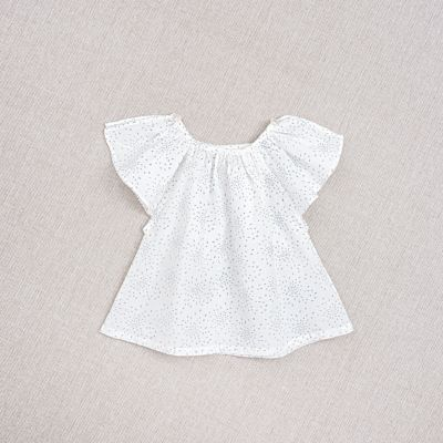 Baby Top Carmensita Teal Print by Ketiketa